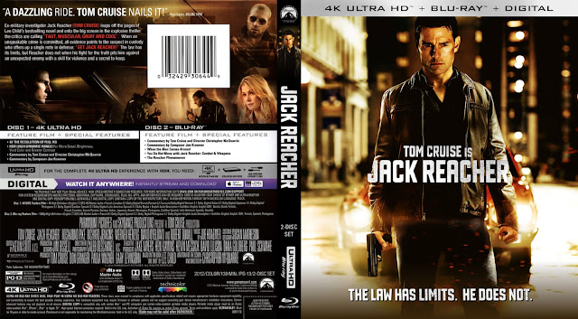 Jack Reacher 4k Bluray Cover