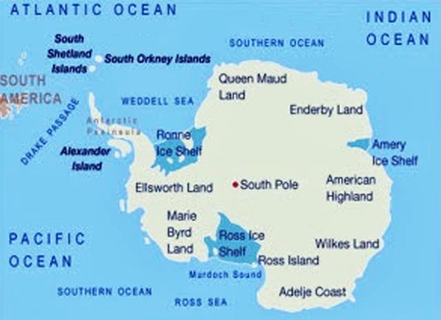 Peta Benua Antartika