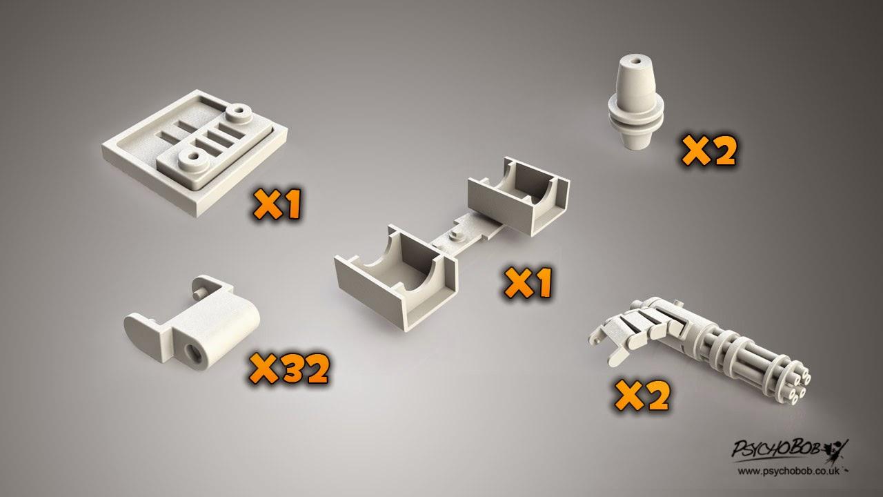 Psychobob Arts: 3D Print: Team Fortress 2 Sentry design/price change