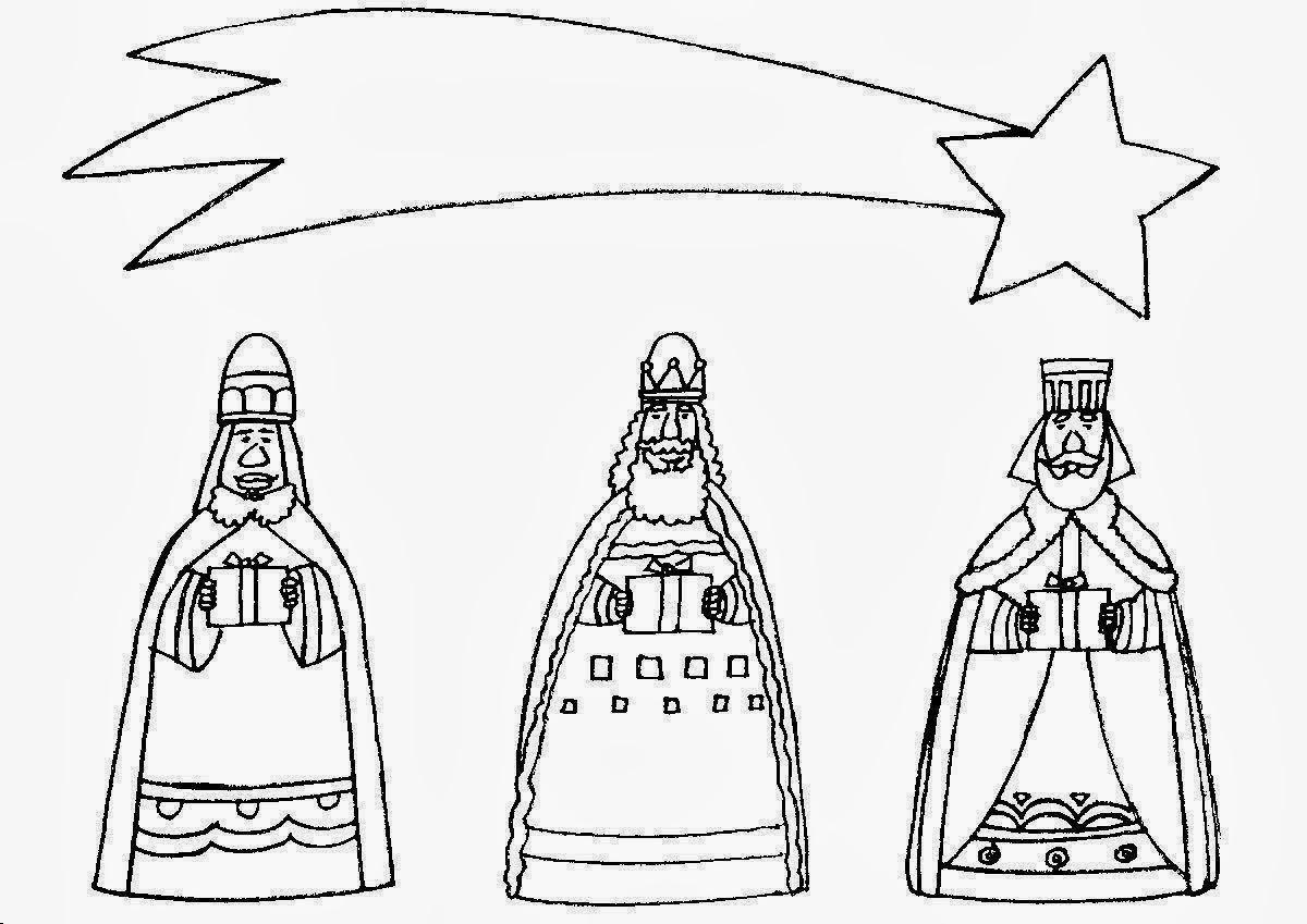 Dibujos De Reyes Magos Coloreados: El Renuevo De Jehova: Los Reyes Magos