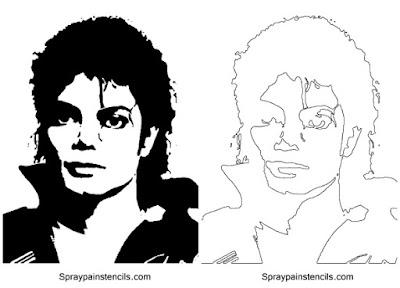 Plantillas Michael Jackson técnica Stencil