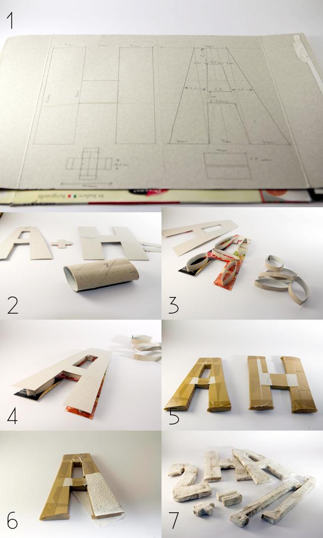DIY 3D Buchstaben