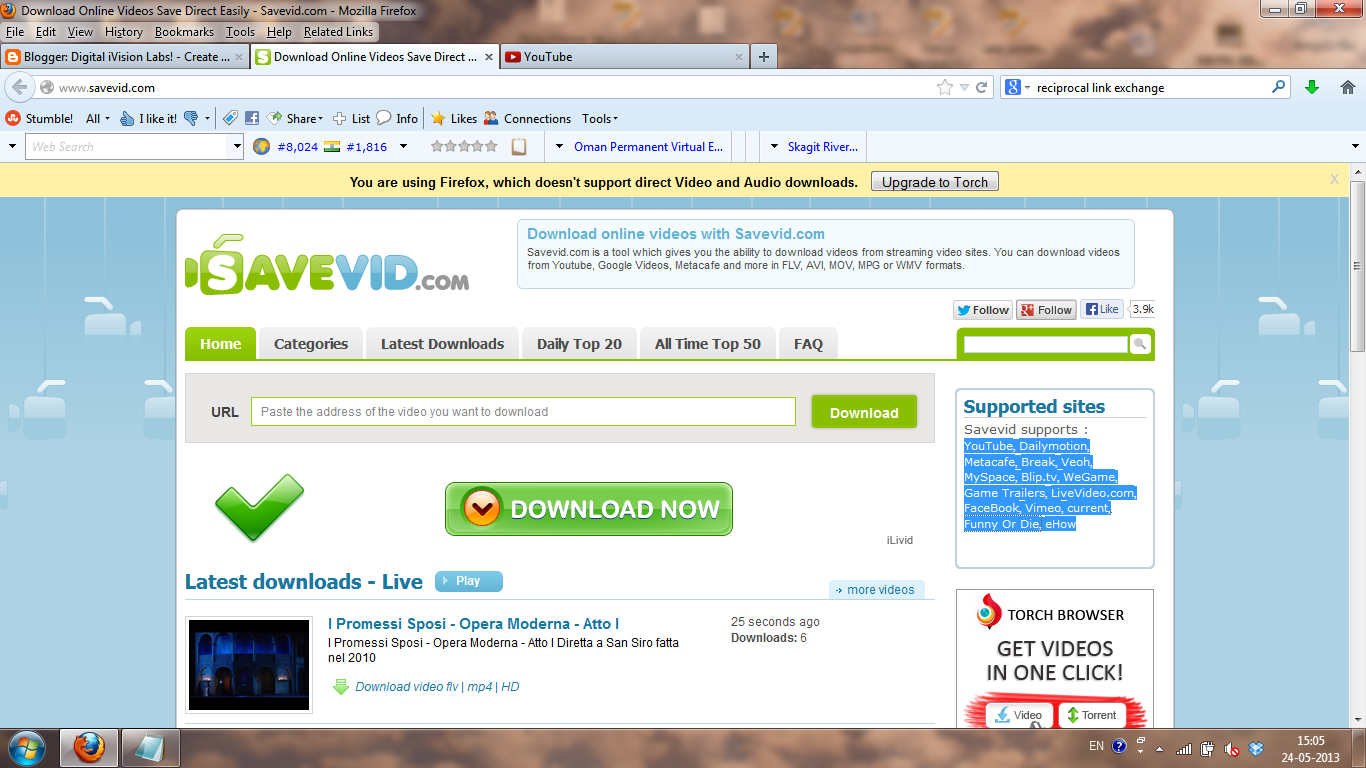Savevid.com Screenshot From Where You Could Download Youtube Videos