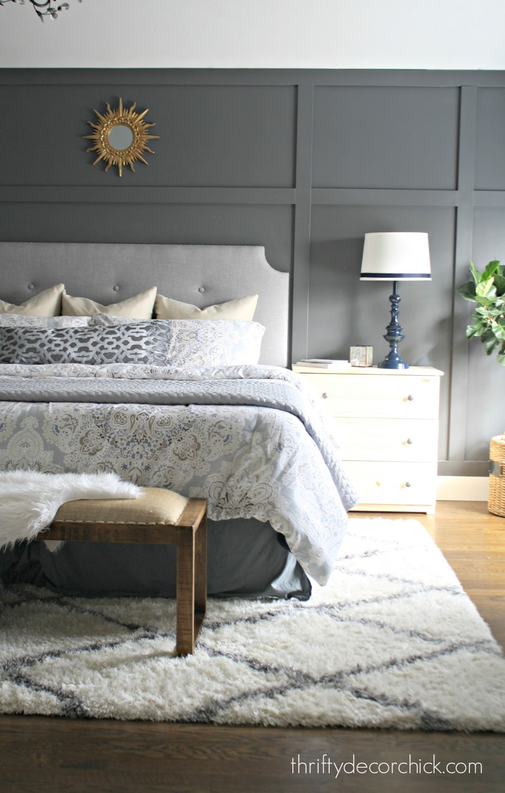 DIY tufted headboard for under $100
