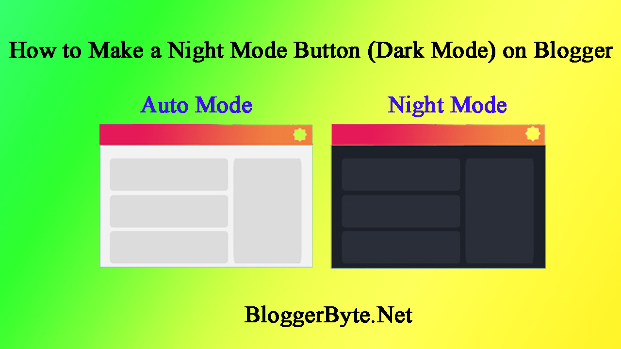 How to Create Night Mode and Star Effects on a website or Blogger