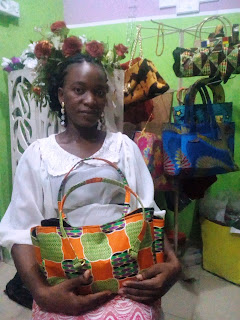 An exceptional student, Bridget who came all the way from Warri and already making creative Fashion crafts in less than two weeks