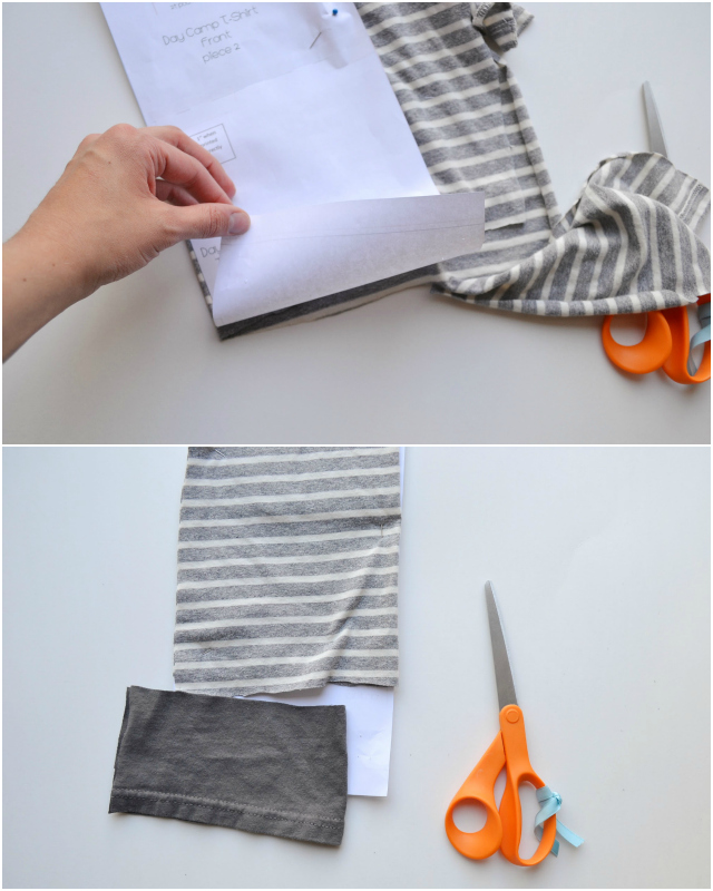 How to Upcycle: Kid Basic Tee Neckline // DIY Sew