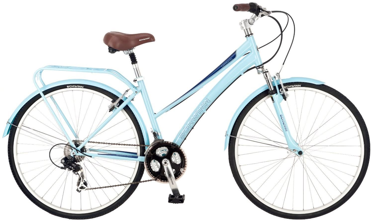 a83db1a8569 Schwinn Women's Community 700c Hybrid Bicycle, with Shimano 21-speed rear  derailleur & SRAM. >>