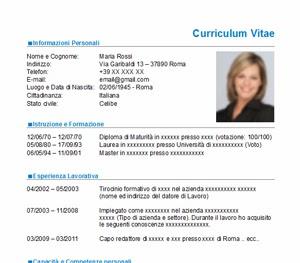 Curriculum Vitae Nuovo Modello Cv Da Scaricare Gratis