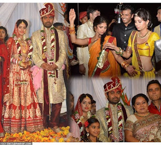 Married picture of 'Sandhya' Deepika Singh and husband Rohit Raj Goyal .