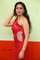Actress Zahida Sam Latest Stills in Red Long Dress at Badragiri Movie Opening .COM 0043.JPG