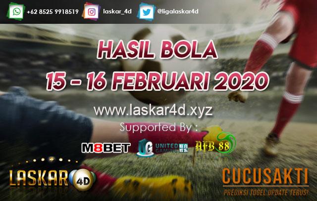 HASIL BOLA JITU TANGGAL 15 – 16 Februari 2020