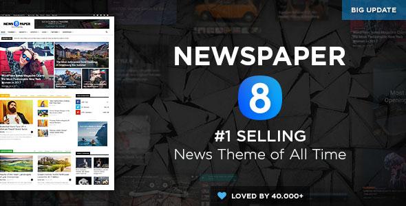 Free download Newspaper V8.7.2 WordPress theme