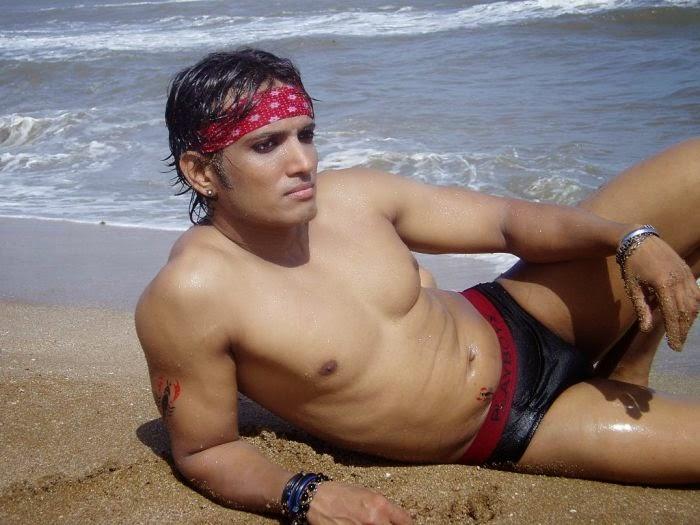 Gay beach hunks