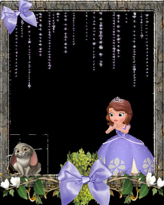 Bordas e molduras princesa sofia convites digitais simples - Foto princesa sofia ...