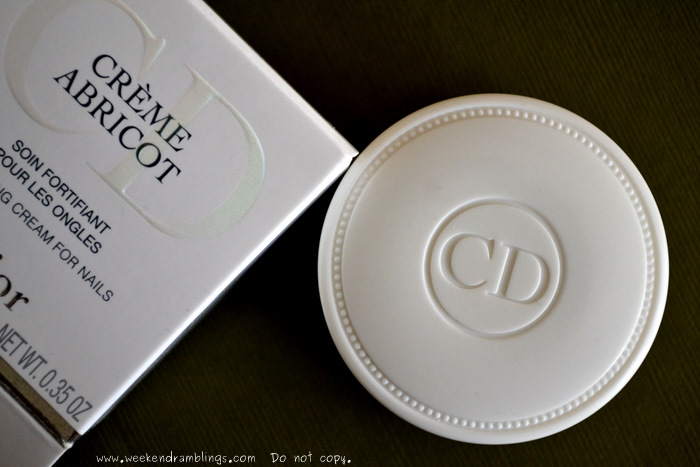 Dior Creme Abricot Fortifying Cream for Nails Cuticle - Review