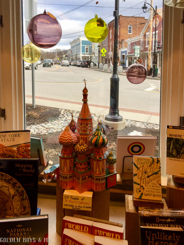Window display at Northshire Bookstore in Manchester, VT