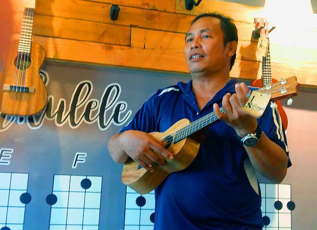 Frank Clive Cane at UkeHUB Kafe in Mactan Island Lapulapu City Cebu Philippines