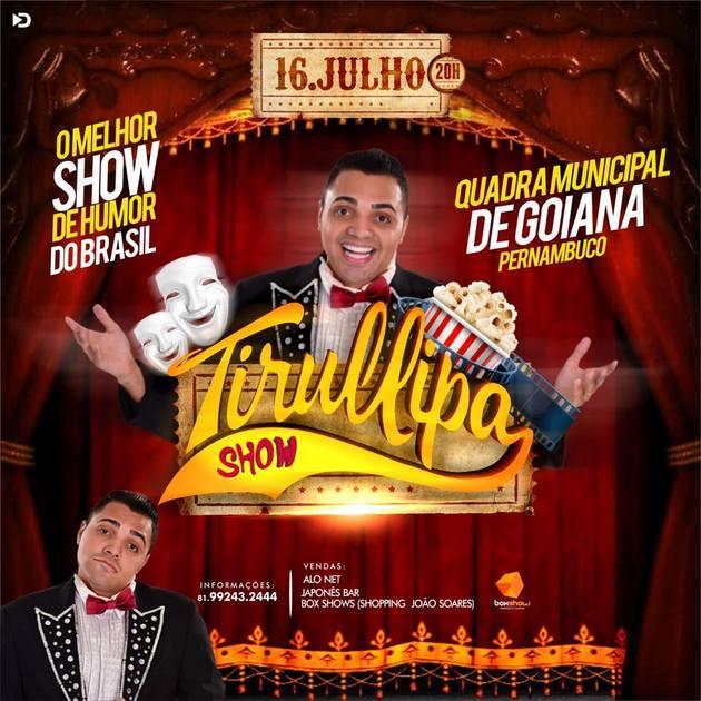 Evento: Boxshow Produções promove Tirullipa Show em Goiana