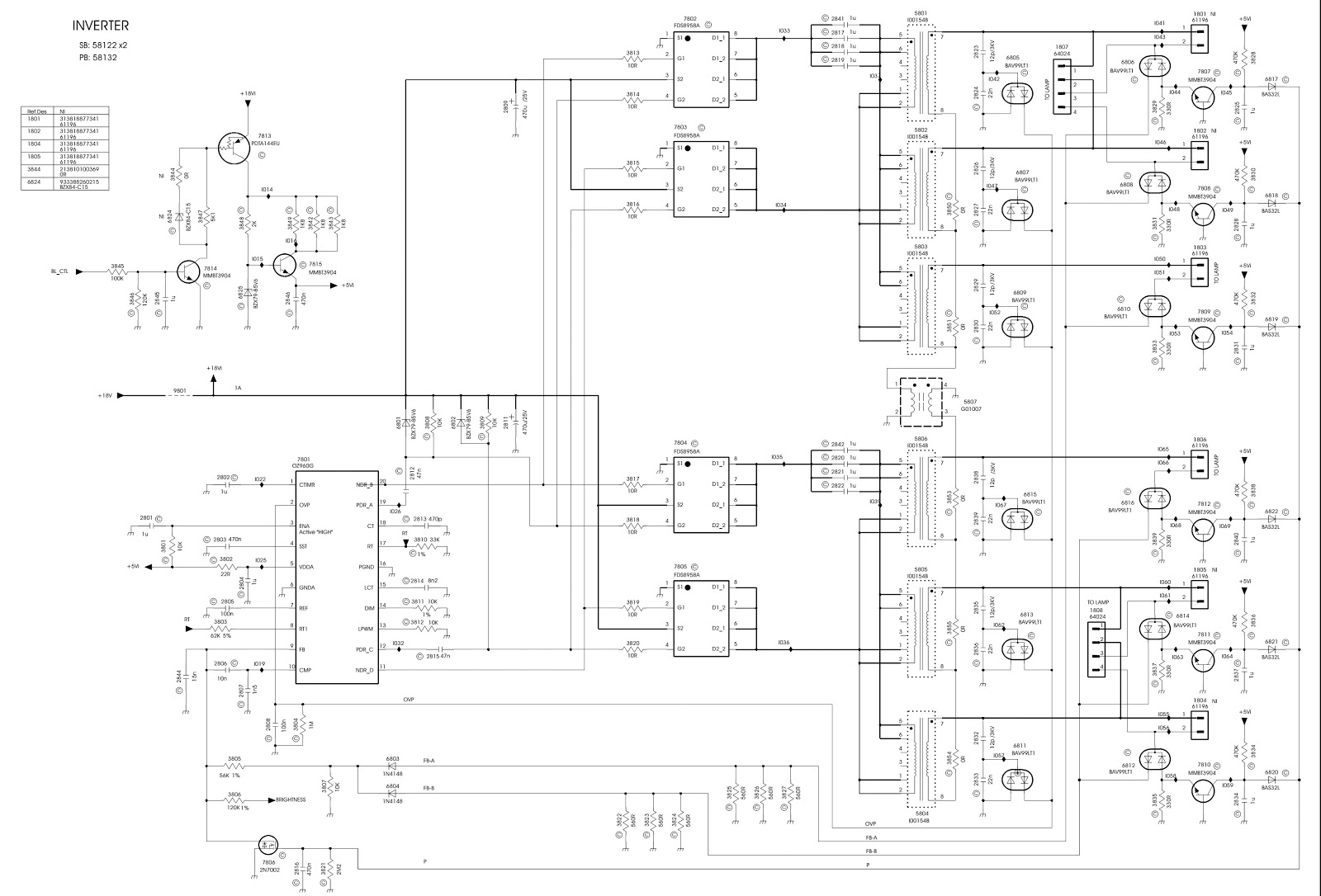 hp monitor schematic