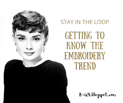 Embroidery Trend for this Fall Season