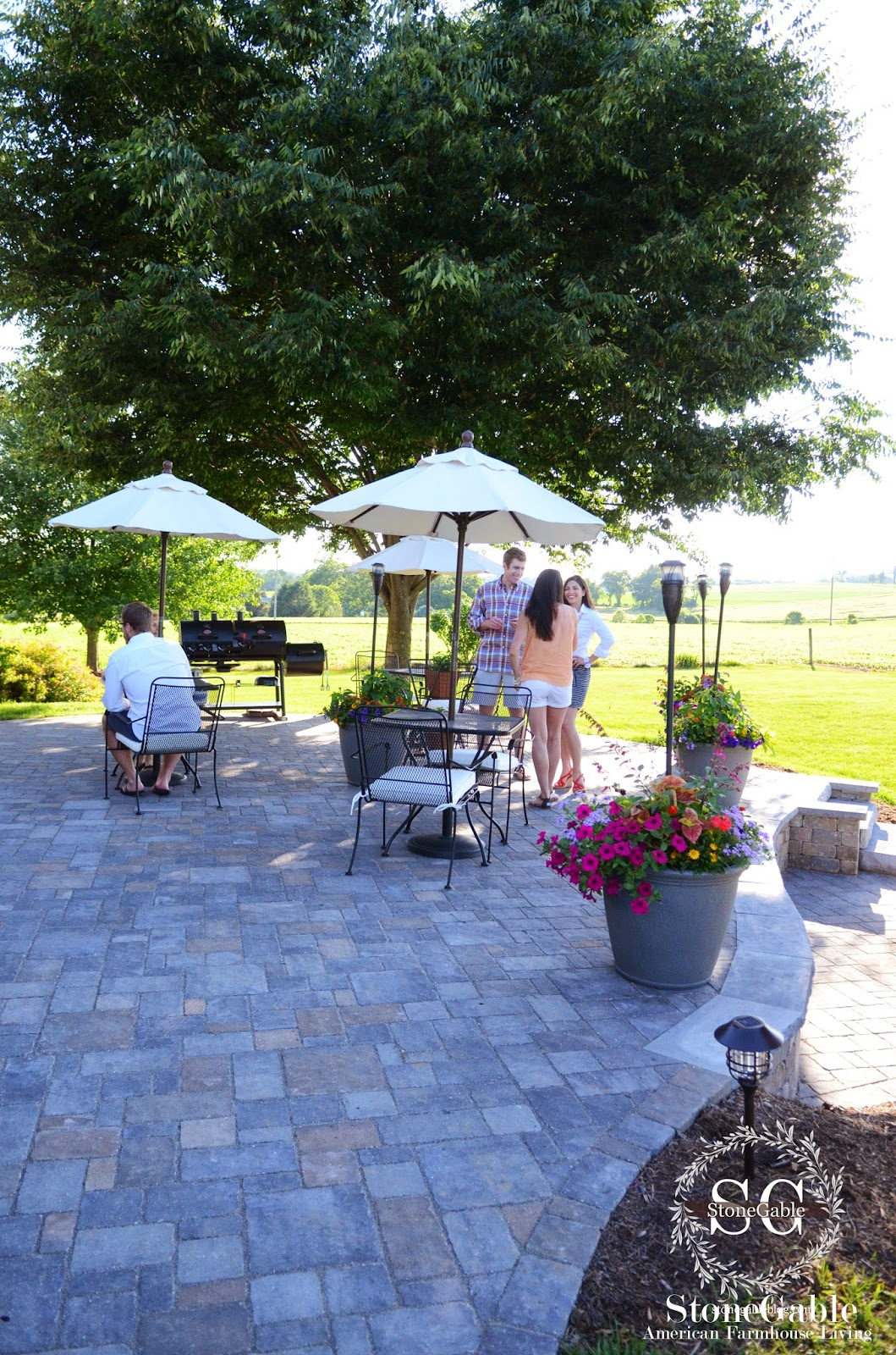 patio reveal and giveaway stonegable
