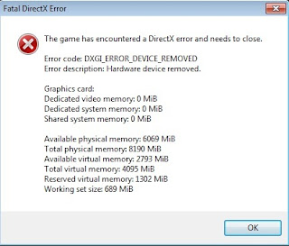 Nvidia Dxgi Error Device Removed
