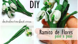 Aprende a Tejer un Ramo de Flores a Crochet / Paso a paso