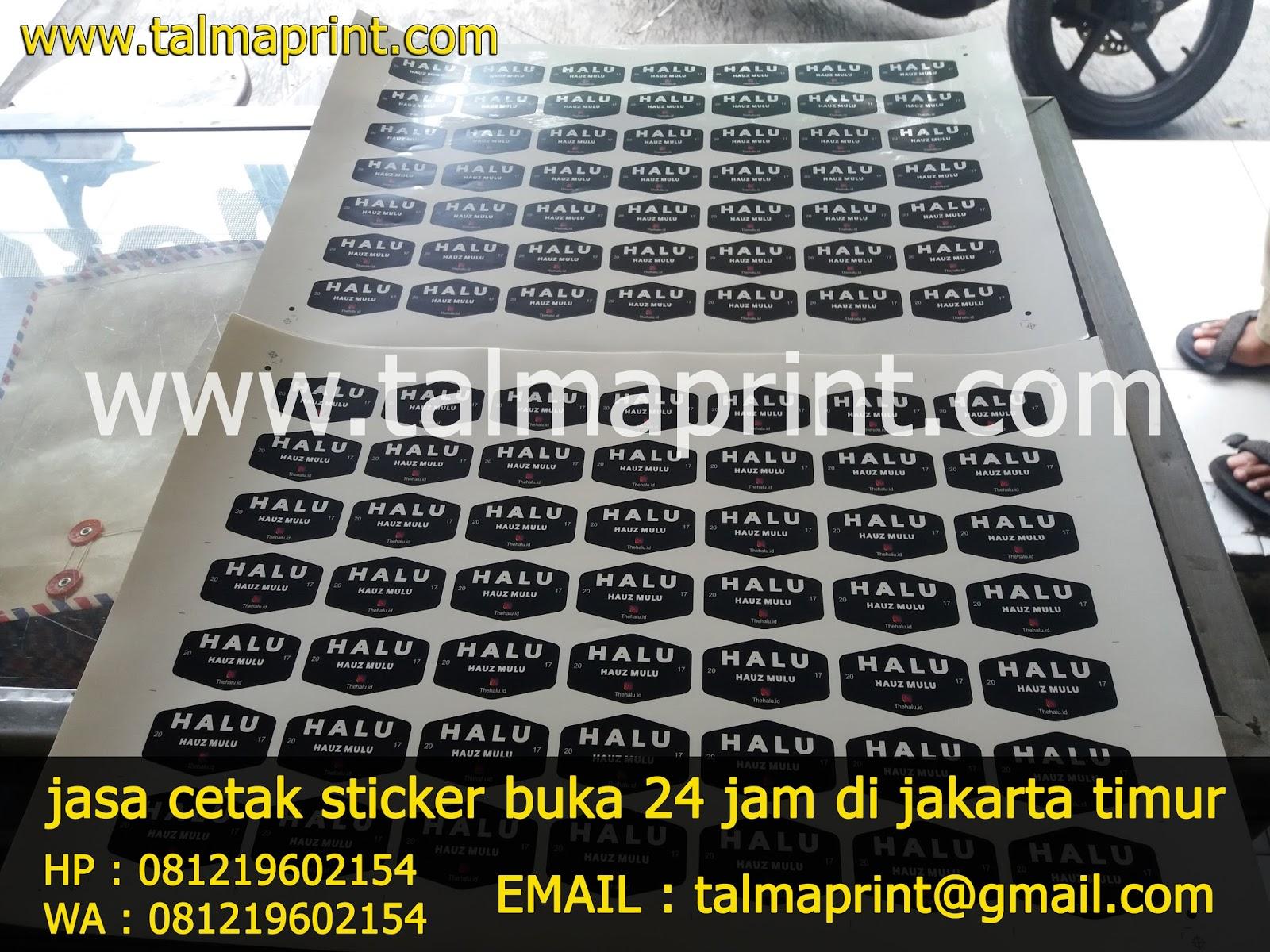 Tempat Cetak Stiker Di Jakarta Layanan 24 Jam Talmaprint Copy Contoh Hasil Pekerjaan Kami
