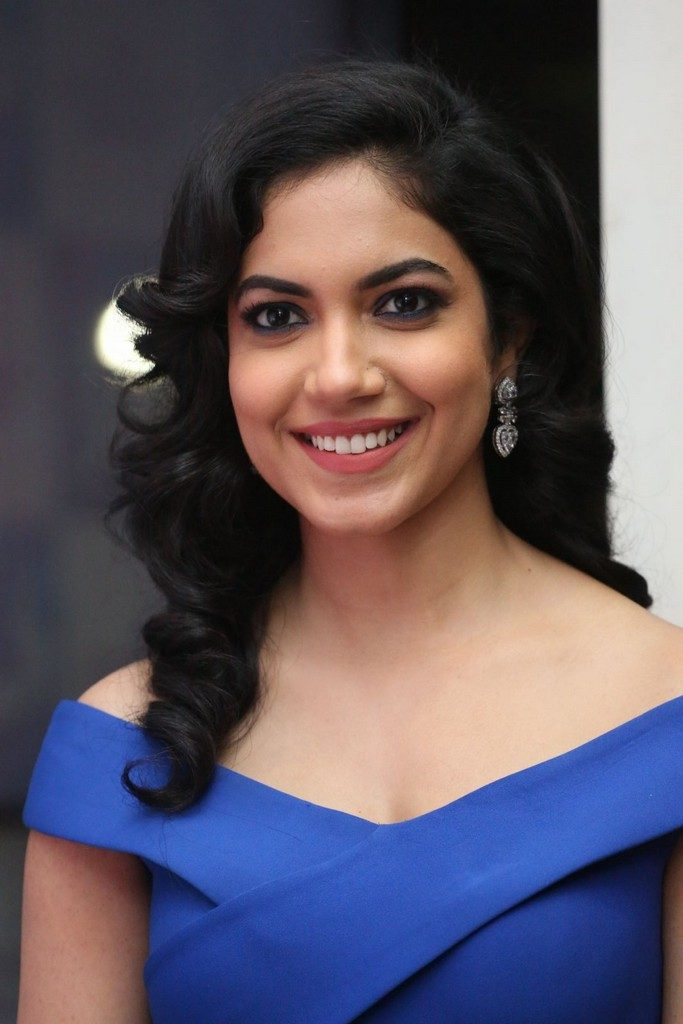 Glamorous Hyderabad Girl Ritu Varma Long Hair Photos In Blue Color Dress