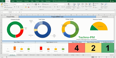 master excel project tracker, excel project management template