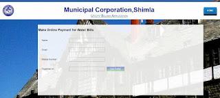 Municipal Corporation, Shimla Water Bill