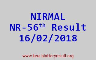 NIRMAL Lottery NR 56 Results 16-02-2018