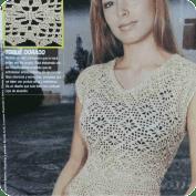 Blusa dorada a Ganchillo