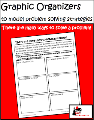 Free math problem solving strategies graphic organizer from Raki's Rad Resources.