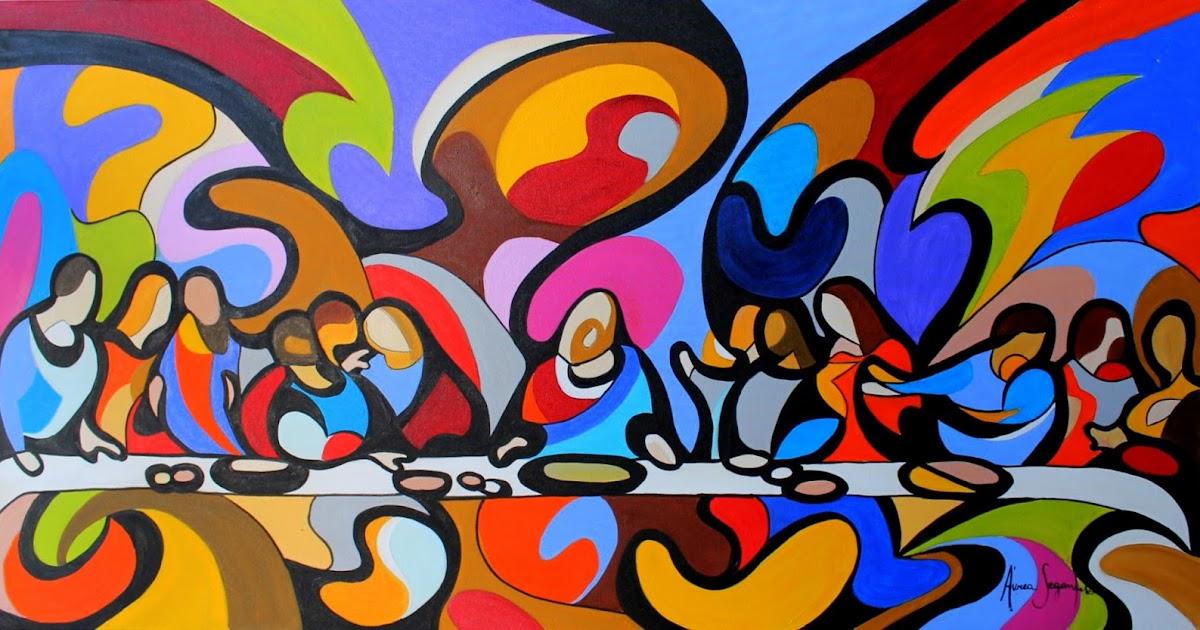 HDARTISAN Modern Abstract Animal Canvas Art Chihuahua Dog