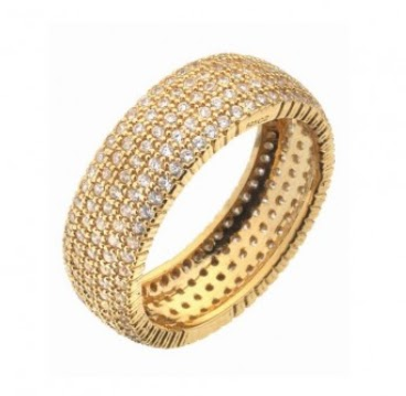 Virtue London Solar Ring 5 Strand Gold
