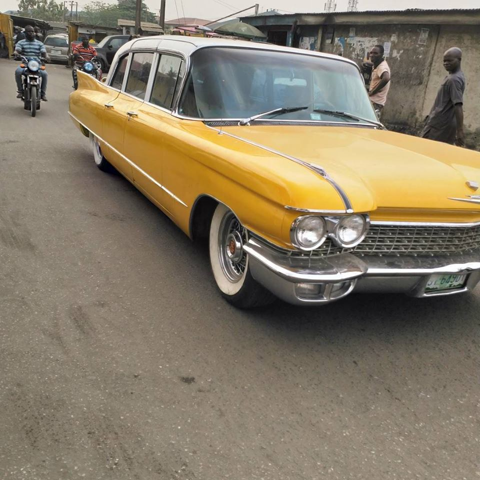 See This 1962 Cardilac Fleetwood Limousine in Spotted Lagos...