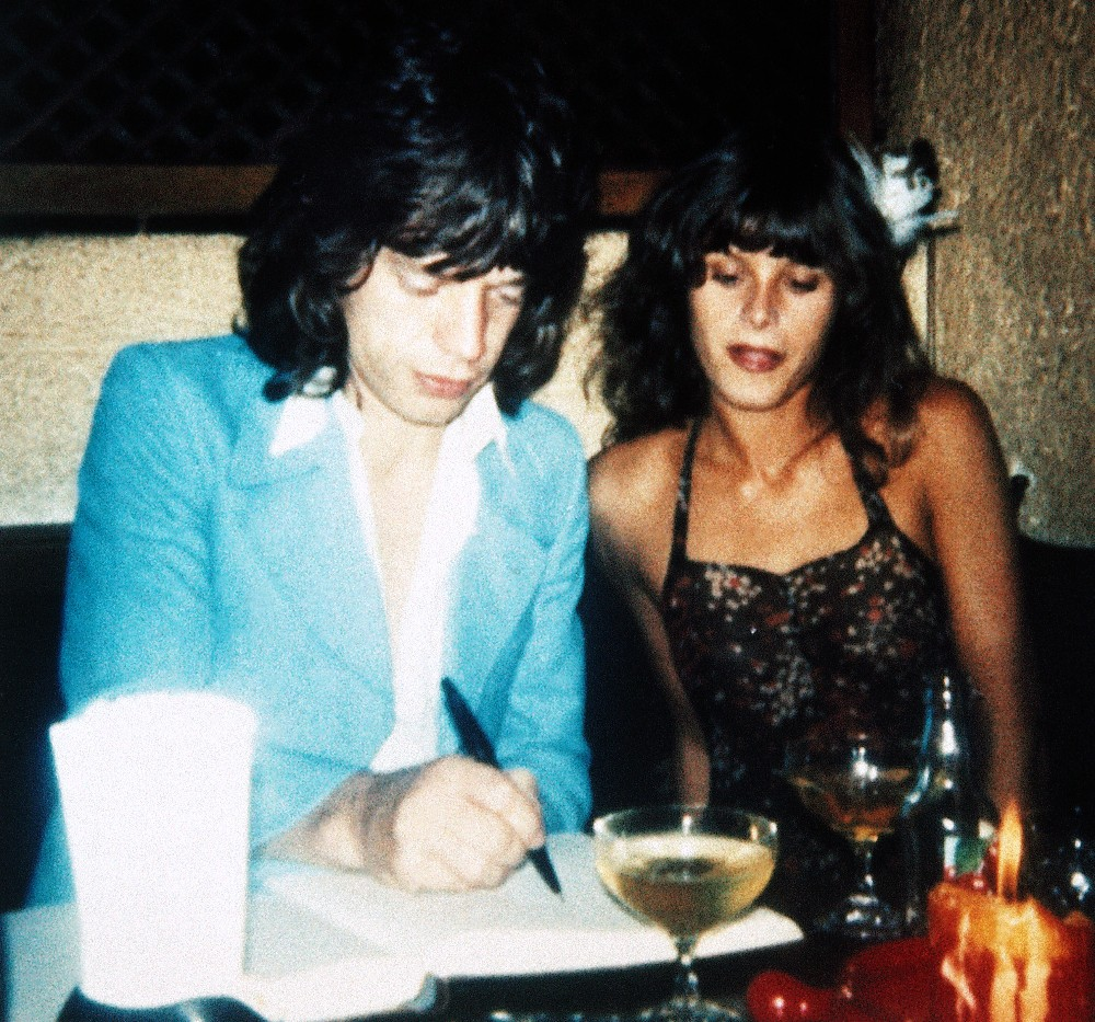 Uschi Obermaier With The Rolling Stones On The 1975 Tour