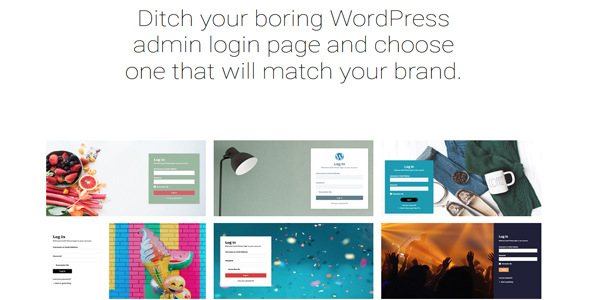 Ditch your boring WordPress admin login page and choose one that will match your brand.