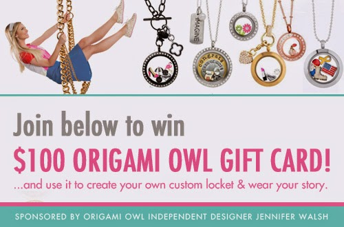 $100 Origami Owl Gift Card Giveaway