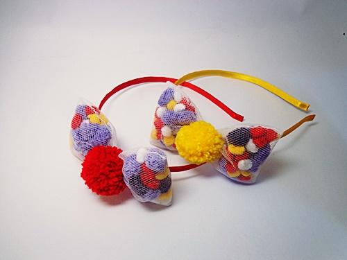Armario Exterior Segunda Mano ~ Tiara Com Laço de Pompom artesanato kakau araujo