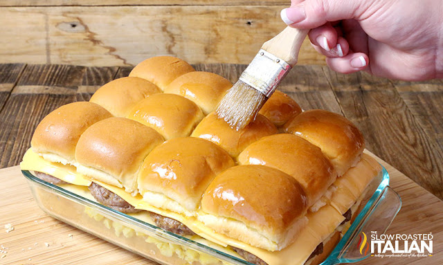 Breakfast Sliders (Cheese and Sausage)