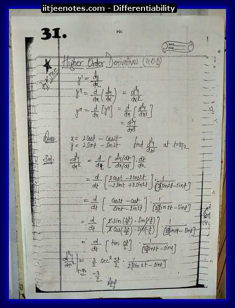 differentiability notes cbse7