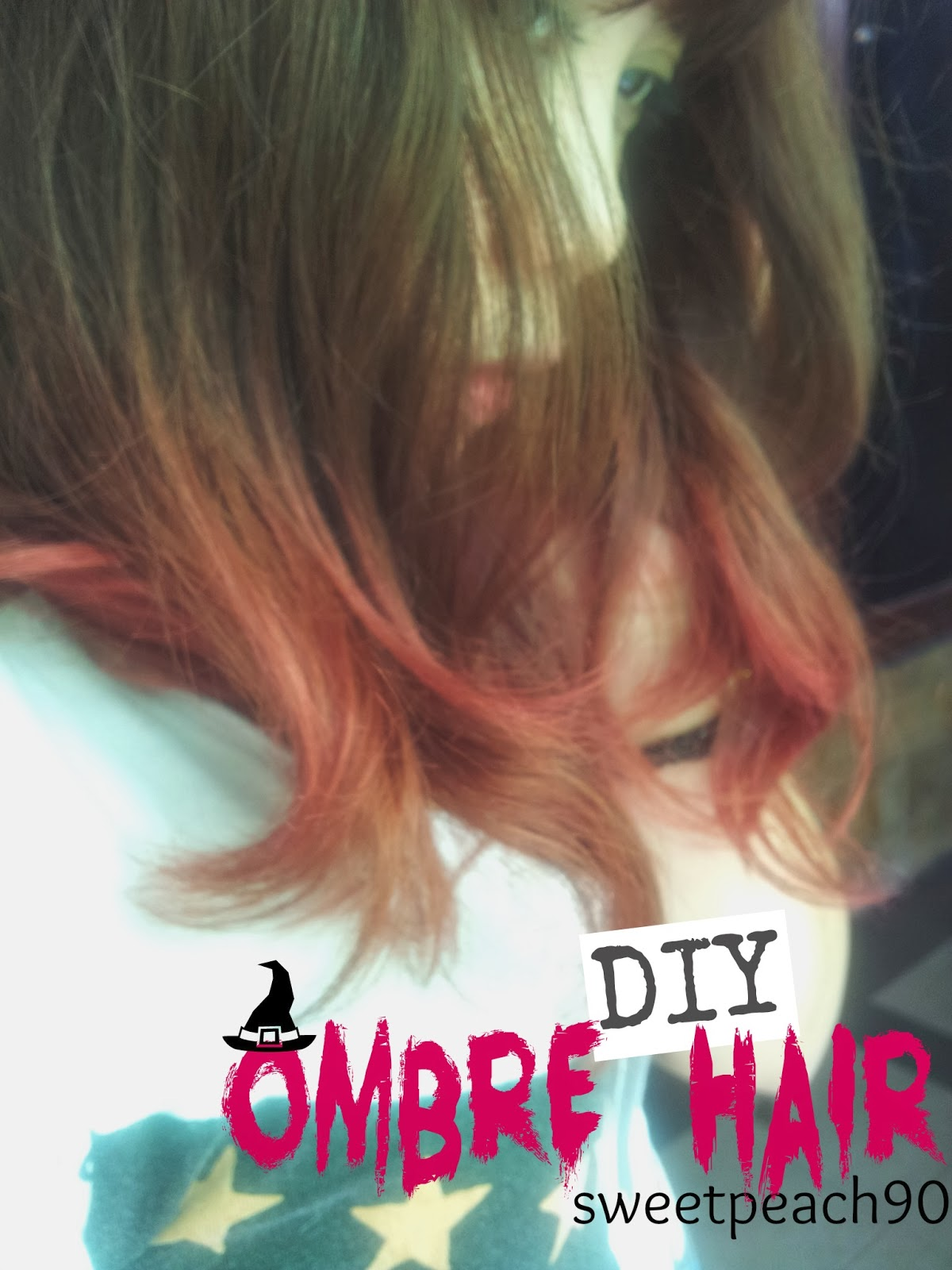 Diy Red And Black Eye Makeup: Sweet Peach: [DIY] Ombre Hair (Red Pink
