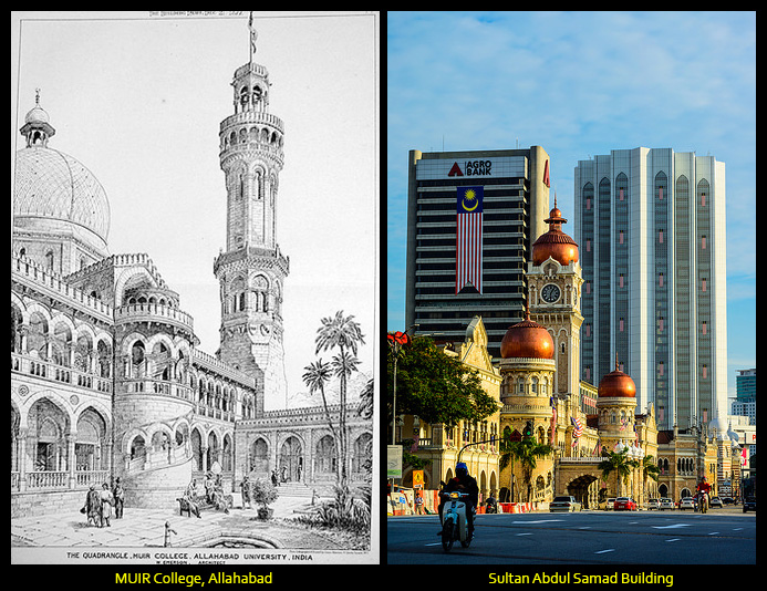 Was The Architecture Of The Sultan Abdul Samad Building Influenced By Muir College Building