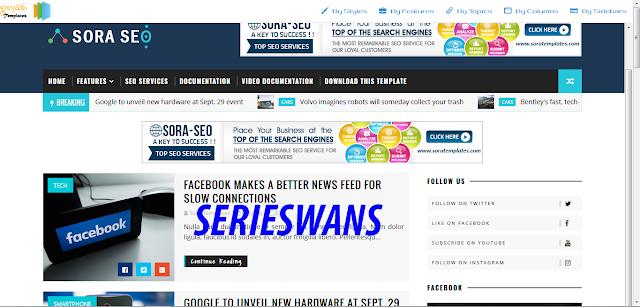 Download Template Blogger Sora Seo Premium Gratis