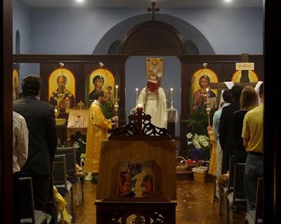 Gospel Reading on Easter at Orthodox Church in Jackson TN