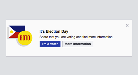 Facebook Im A Voter Button