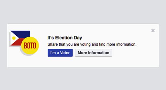 Facebook Im A Voter Button